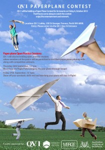 QV 1 Paperplane contest