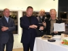 Winning team members, Philip Goad (left) and Rene van Meeuwen (centre) presenting their proposal to guests at the Smeg showroom in Melbourne.