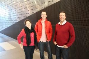 Helen Norrie, Adam Haddow and Sam Crawford