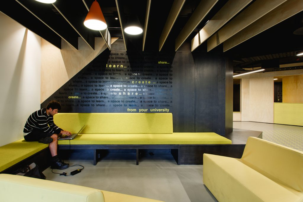 Educational Architecture Tasmanian Chapter Named Award - The Student Lounge by Preston Lane. Photo by Adam Gibson.