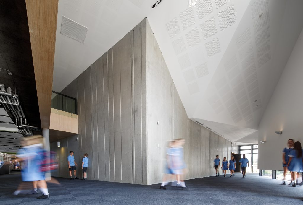 Educational Architecture Enrico Taglietti Award – St John Paul II College by Collins Caddaye Architects. Photo by Stefan Postles.
