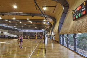 Abbotsleigh Multi-purpose Assembly and Sports Hall and Sports Field by AJ+C. Photo: Tyrone ranigan