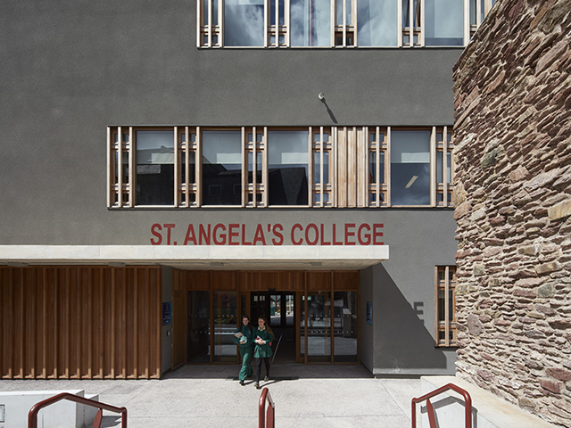 St Angela's College - Entrance - Photo Credit: Dennis Gilbert