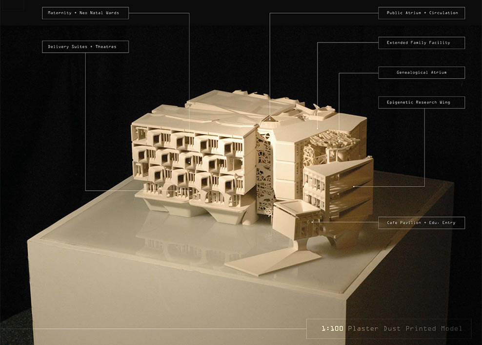 2008 Joint Winner: On the Ground [Maternity Hospital + Epigenetic Research Facility_Jenin_West Bank 2050] by Daniel Griffin